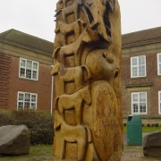 Oak sculpture - desigend by pupils