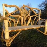 Rustic bench felixstow sea front